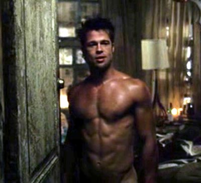 brad pitt fight club body. brad