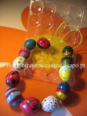 Colar com ovos de codorniz