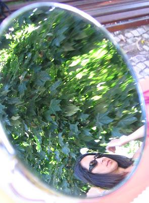 A minha imagem reflectida no espelho