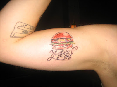 Burger Skills Burger Tattoo