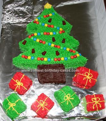 funny christmas cards: Christmas Tree Cake