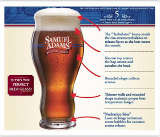 Samuel Adams Perfect Pour Pint GlassSamuel Adams Beer Glass