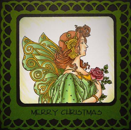 The Enchanted Gallery: Art Nouveau Christmas Card