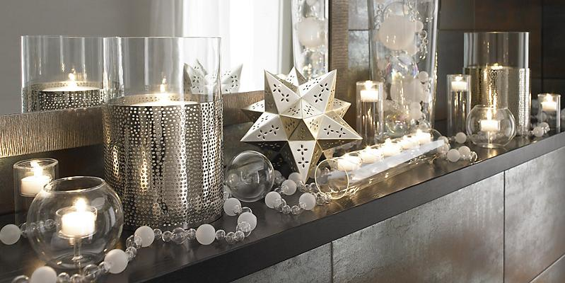 Interior design setting christmas decoration from crate for Interior xmas decorations