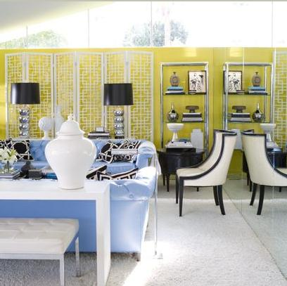 Interior Design Setting Hollywood Regency Style In
