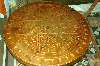 antes de la restauración de mesa marroquí