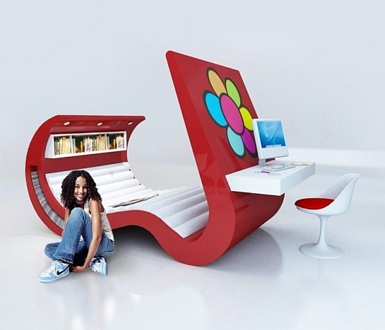All in one set cool furniture - Amazing teenage girl desks ...