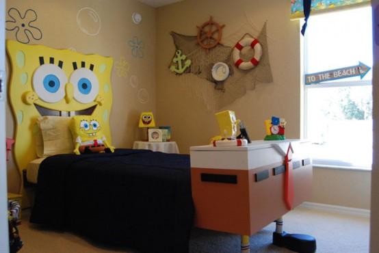 cool spongebob kids bedroom furniture idea