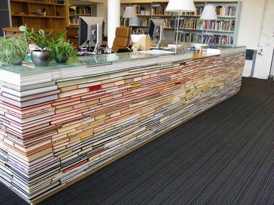 Cool Recycled Library Desk