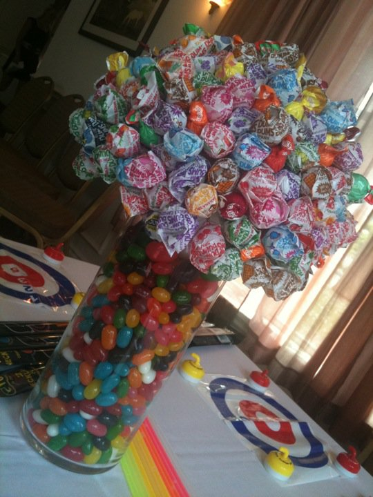 My favorite element is the adorable candy centerpiece she made from lolly