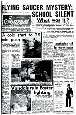 1966 Incident d'OVNI à Westall High School – Melbourne Australie Clayton2
