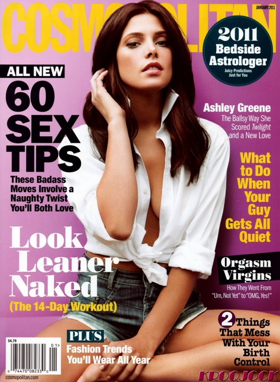 Ashley's graving the cover of January 2011's Cosmo - check back for scans ...