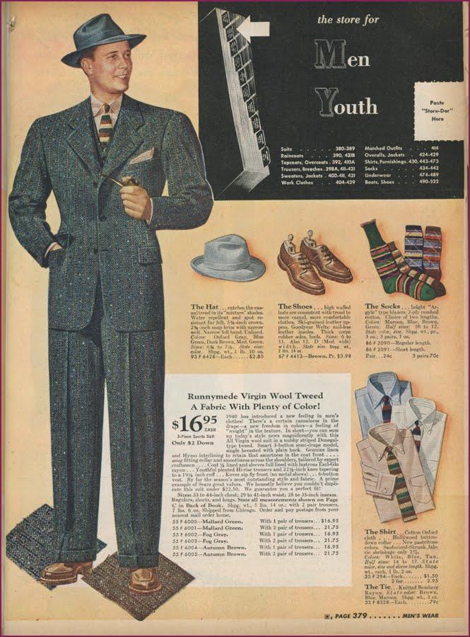 Sears Catalog Men S Clothing