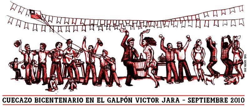 Cuecazo Bicentenario en el Galpón Victor Jara
