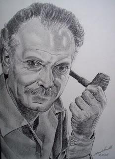 portrait de george brassens, mine de plomb, mine graphite