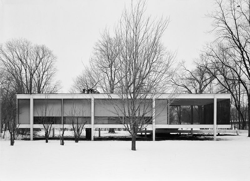 arte contempor neo the glass house philip johnson. Black Bedroom Furniture Sets. Home Design Ideas