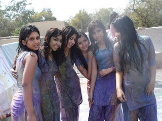 Wet and Sexy Pakistani Girls Celebrating Colorful Desi Festival HOLI ...