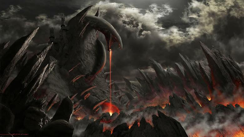 concept art por Gregsem Kowart - Montaña Serpiente