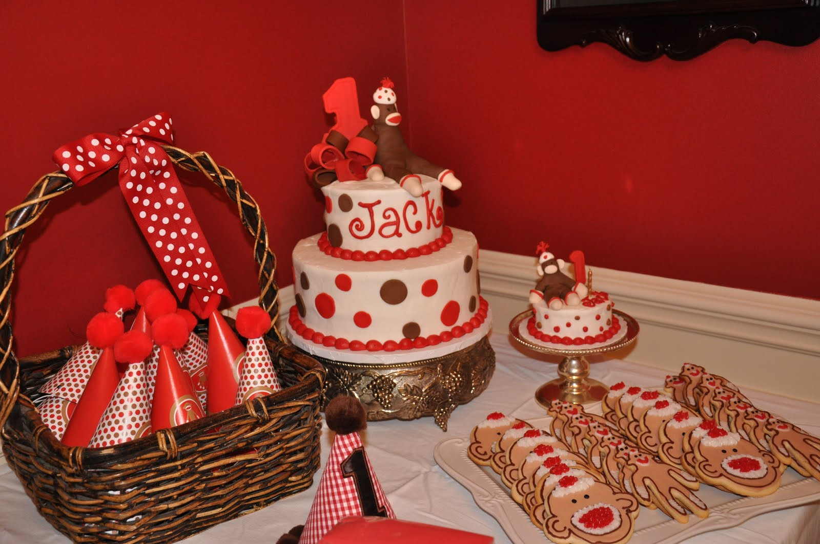 Long Party of Five: A Sock Monkey Birthday Party