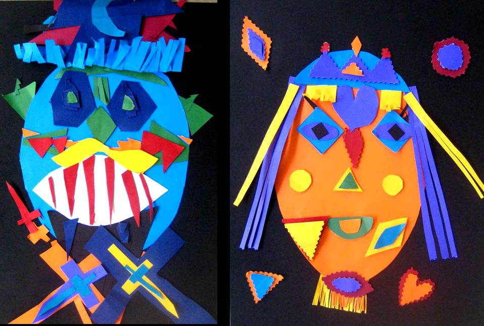 , pupils learned to apply Paper Sculpture techniques onto Mask-making