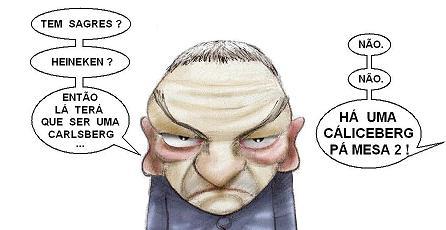 Jesualdo Ferreira - caricatura de Ricardo Galvão para A Bola