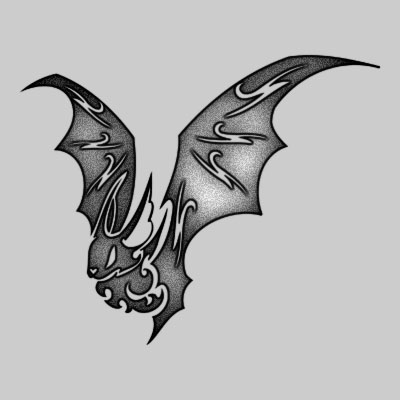 Tribal Bat Tattoo