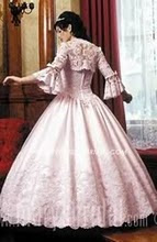 A LOPEZ PINK GOWN, REAR VIEW