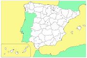 Repaso de las provincias de España. Vamos a realizar distintas actividades . (espana mudo politico)