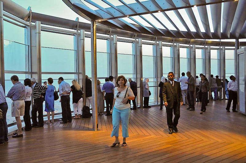Burj Khalifa Top Floor Inside View Top Floor at Burj Khalifa