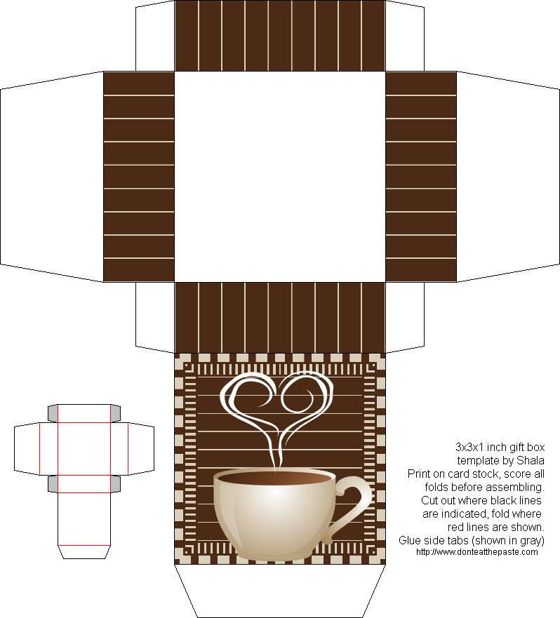 Упаковка для чая своими руками шаблон