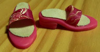 Barbie shoes made of polymer clay