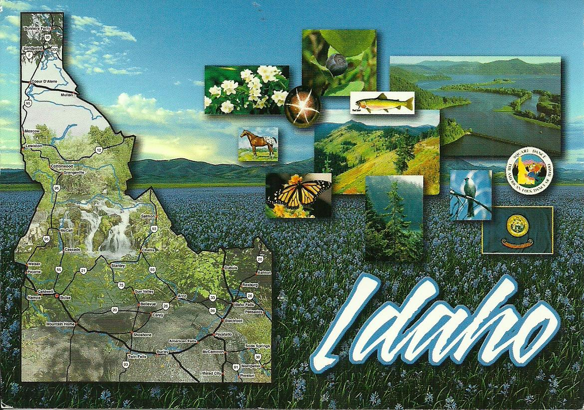Projek Satu Dunia e World Project ™ USA Idaho Mapcard