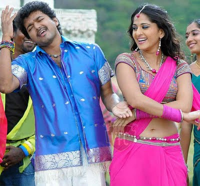 Actress Anushka Shetty in Pink Saree with Designer Sari Blouse
