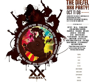 DIESEL XXX SFW PARTIES WORLDWIDE