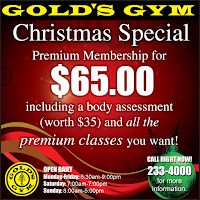 gold's gym christmas special