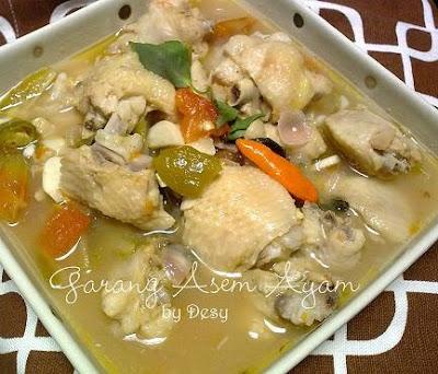 Resep Nita: Garang Asem Ayam