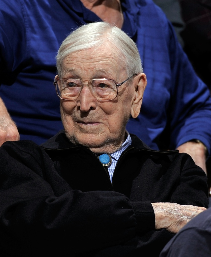 john wooden John wooden coached the basketball team at ucla for 27 years under his leadership, the bruins won 620 games and lost just 147 they won ten ncaa championships, and went undefeated through four different complete seasons -- 1963-64, 1966-67, 1971-72, and 1972-73 wooden's bruins established a still .