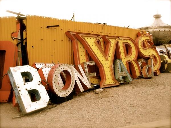 las vegas sign graveyard. Neon in Las Vegas, NV.