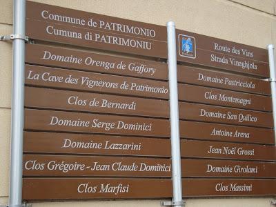 Route des vins en Corse