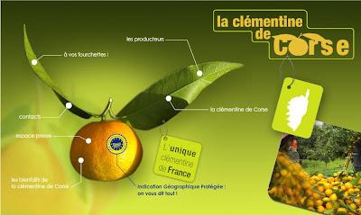 mandarine et clémentine corse