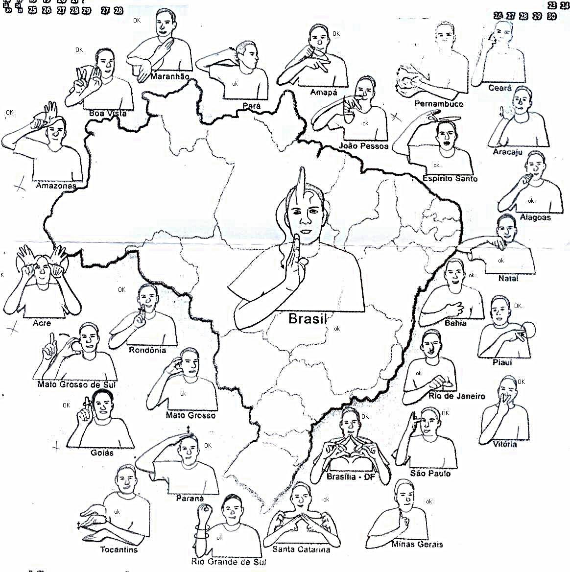 Extremamente LIBRAS: Estados brasileiros KM64