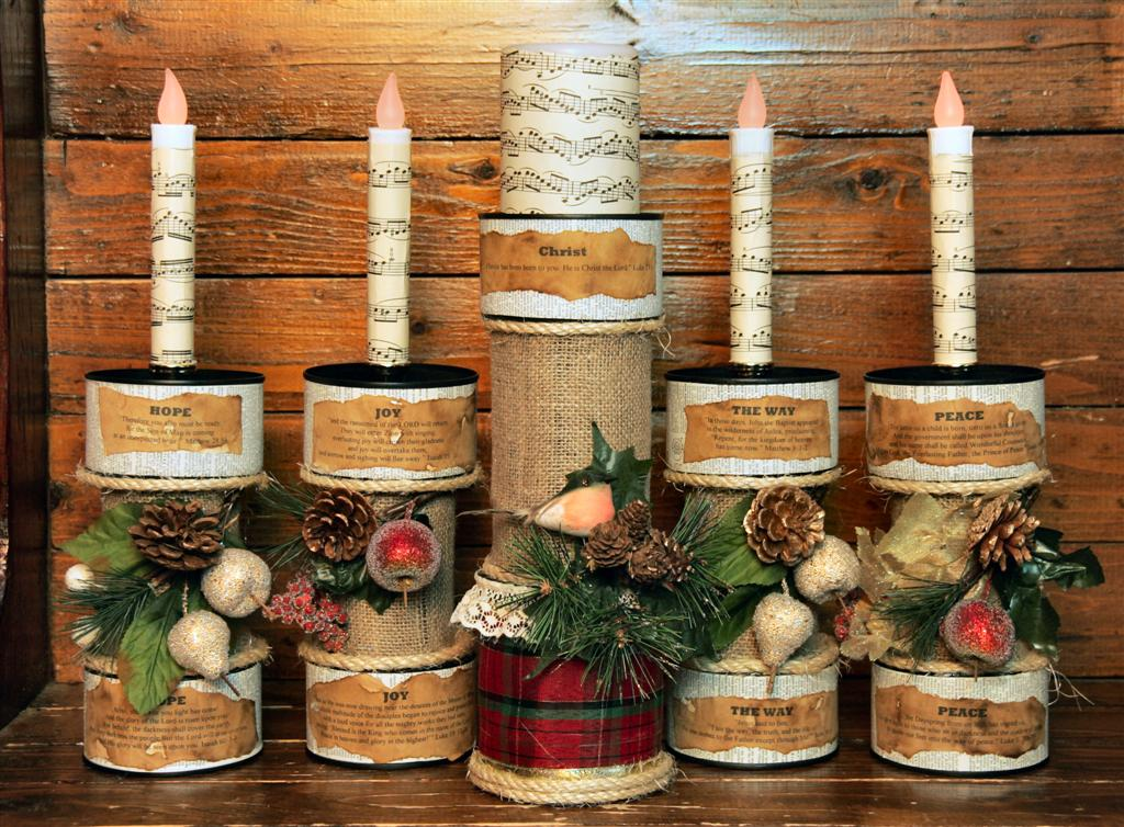 Those northern skies advent candles for Large tin can crafts