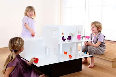 szedzki domek dla lalek, dolls house, pokój dla dziewczynki, ikea, nowoczesny
