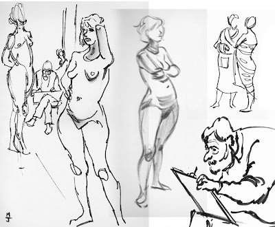 It Has Been Almost Three Years Since I Was Last In A Life Drawing Class France Tried To Stay Sharp People On The Street Or At Beach But
