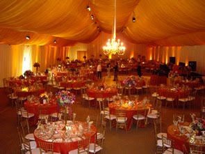 tent+wedding+lighting Weddings and Tents at Private Estates