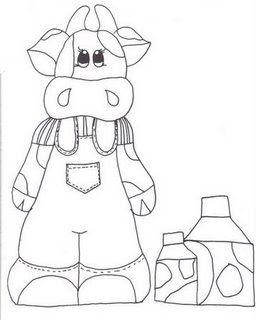 imagens para colorir de vaca - Desenhos de Vacas para Colorir Colorir