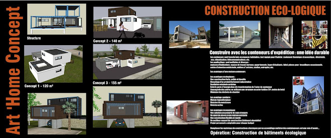 Construction eco logique for Habiter container