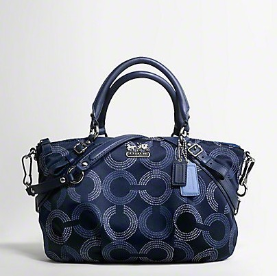 Coach 15935 DOTTED OP ART SOPHIA SATCHEL TEAL
