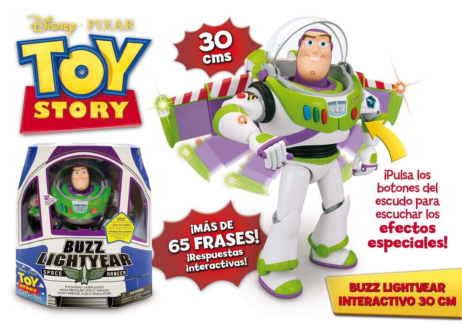 toy story 3 collection ultimate space ranger buzz lightyear con certi
