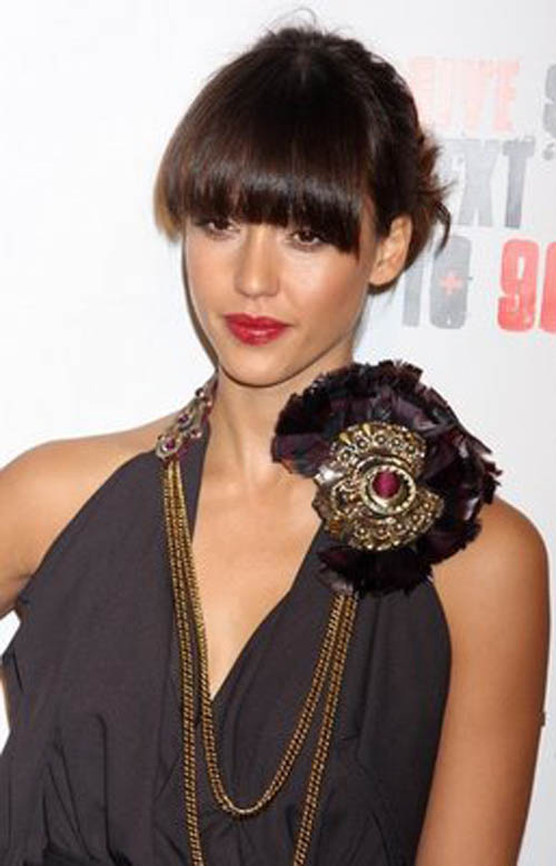 hairstyles 2011 long bangs. Scene Hairstyles 2011 with